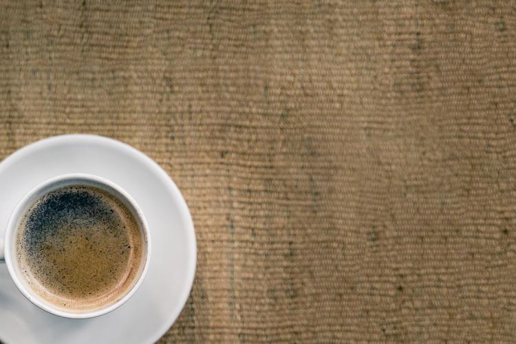 Espresso on coffee bag